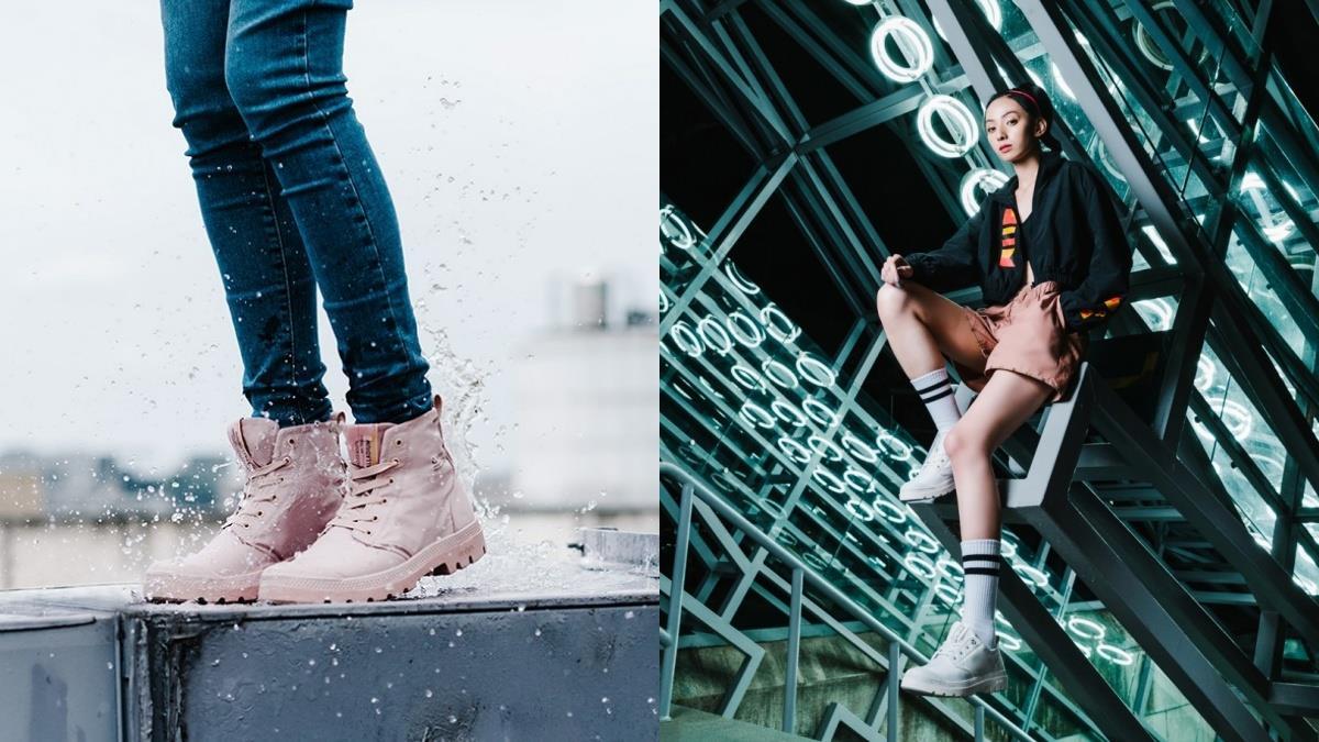 跟雨天就淹水的鞋子說bye!PALLADIUM超夢幻「糖霜裸粉」防水鞋,用純白款成為雨天最仙亮點吧~