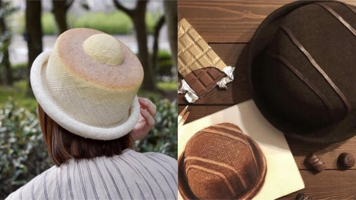 巧克力變帽子?日本職人手作麵包、甜點帽,剛出爐的舒芙蕾,奶油還沒融化,就可以直接戴在頭上?!