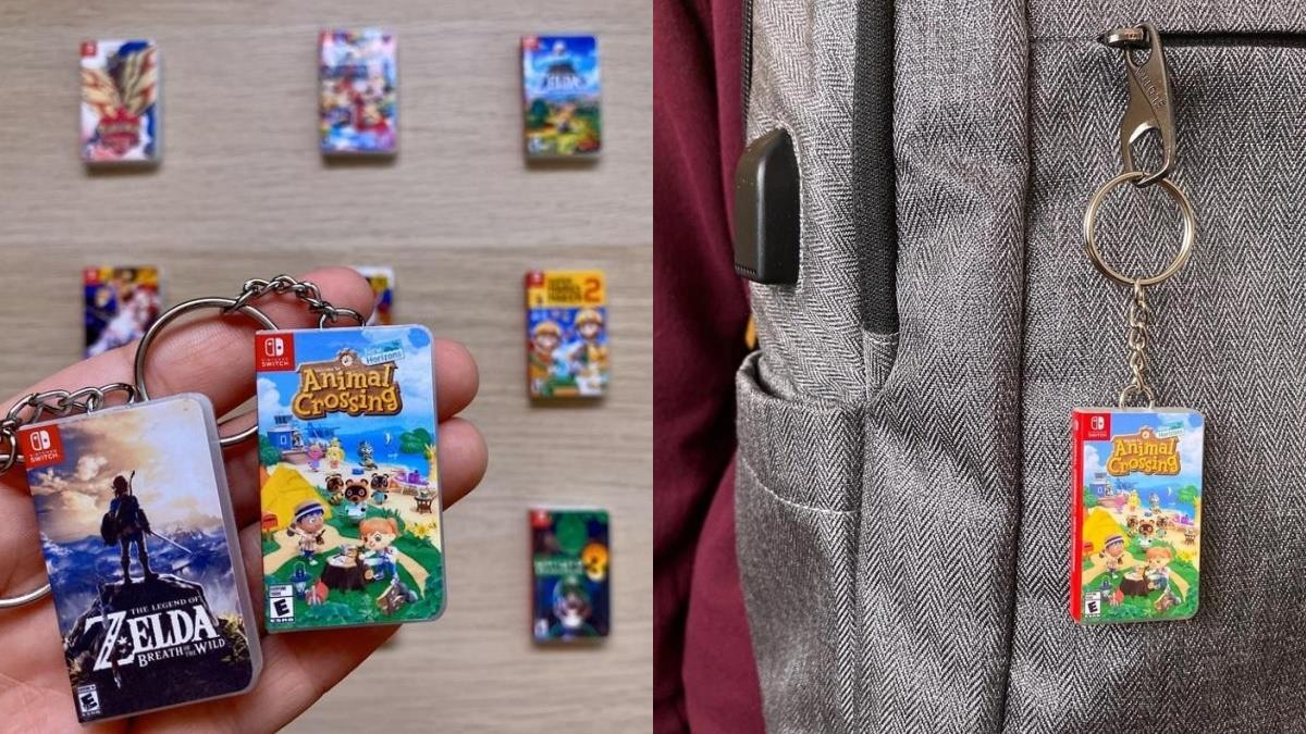 被縮小燈照到的《動森》!Switch超迷你「卡帶鑰匙扣」,造型神還原、款式超齊全太欠收藏了!