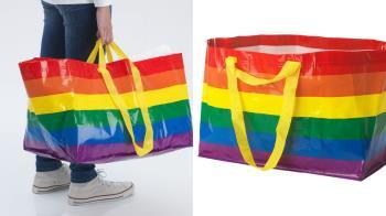 經典購物袋變色了!IKEA推「彩虹購物袋」慶祝同志驕傲月,背著就能感受雨過天晴的平等之愛~