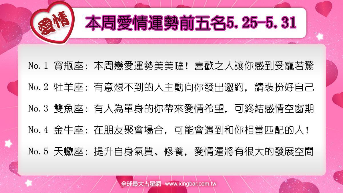 12星座本周愛情吉日吉時(5.25-5.31)