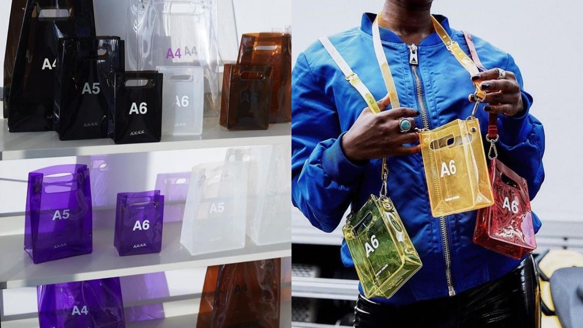 秒奪影印店老闆的目光!日本潮牌推出「A6透明包」,紙張尺寸從A3到A6應有盡有,還能選「紙質」!