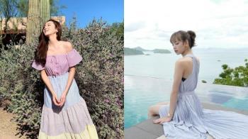 陪妳過夏日的好夥伴!韓國女星必備的「澎袖洋裝」,能性感也能耍可愛,風格百搭超實穿♥