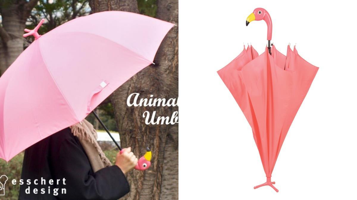 與動物來場雨中約會吧!可愛度爆表的《動物造型雨傘》,熱情紅鶴、萌樣企鵝排排站都想帶回家啊~