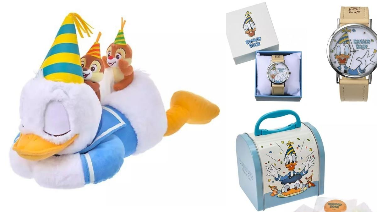 唐老鴨86歲大壽!日本迪士尼推「慶生系列」療癒生活小物,透明水壺、趴睡面紙盒根本萌到爆~