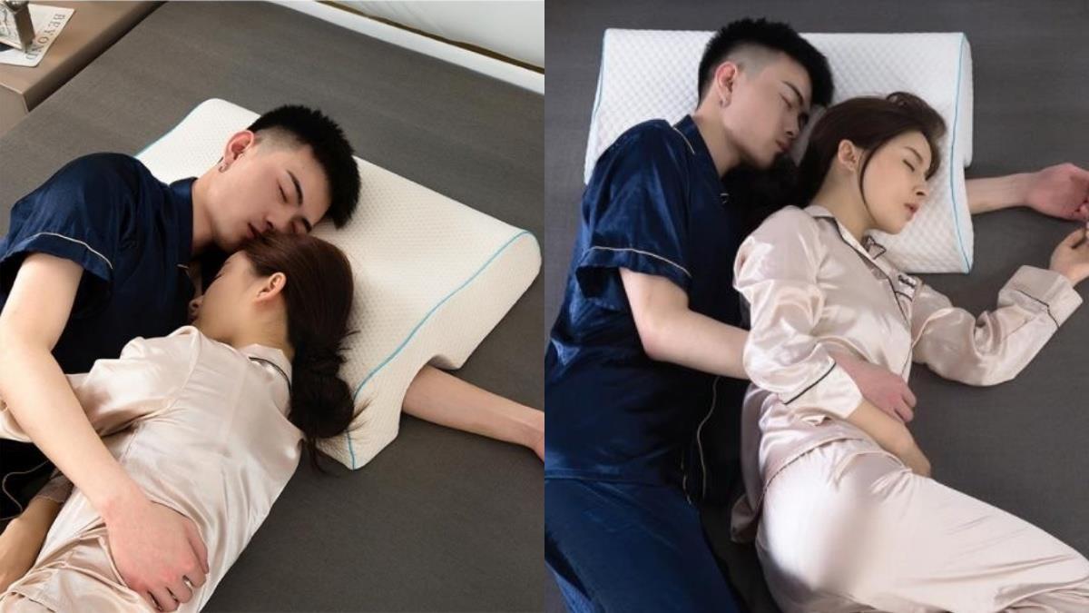 男友問我枕頭怎麼開了一個洞? Twitter 熱議情侶必備款「防手麻枕頭」,每晚都能盡情享受男朋友頸枕♡