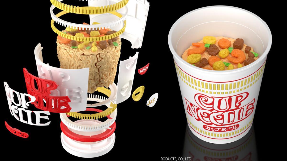 超浪費才能!日本話題作等比大「日清杯麵組裝模型」千萬不要拿來吃