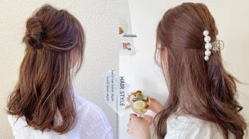 韓國大勢「半頭綁髮」髮型推薦!溫柔有女人味、招桃花髮型首選,中長髮、短髮也可以綁