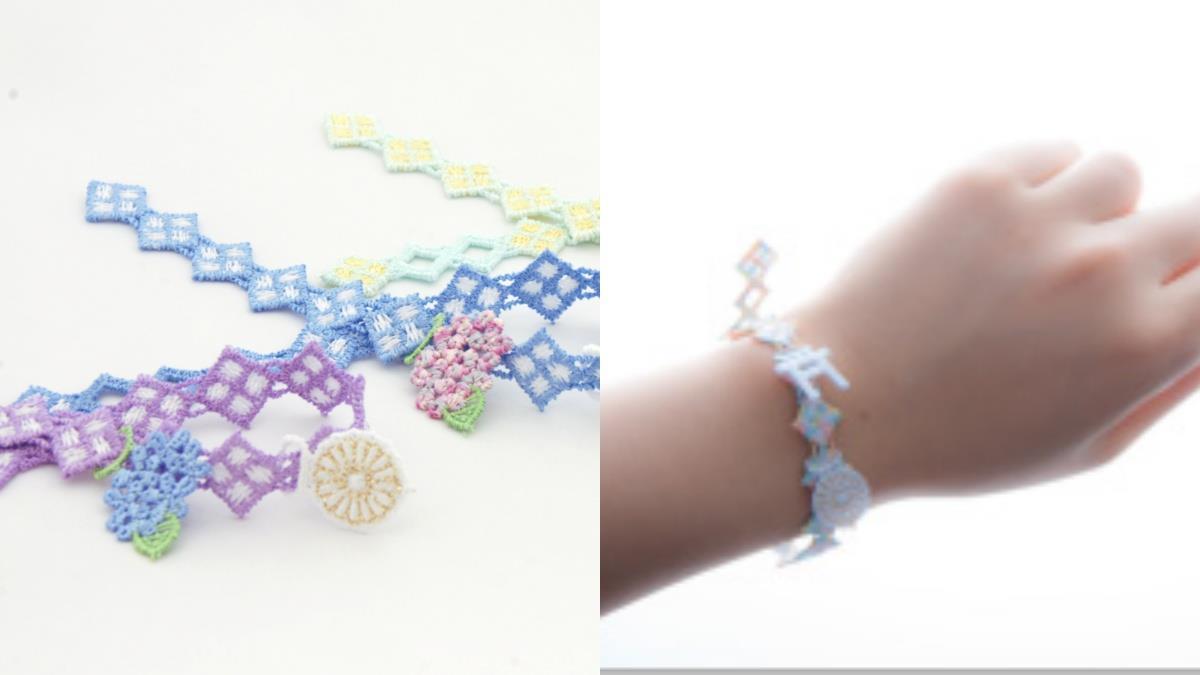 巫女親手編織的超美御守!神社推出超美「繡球花手環神結御守」,當手環或掛飾都超級適合~