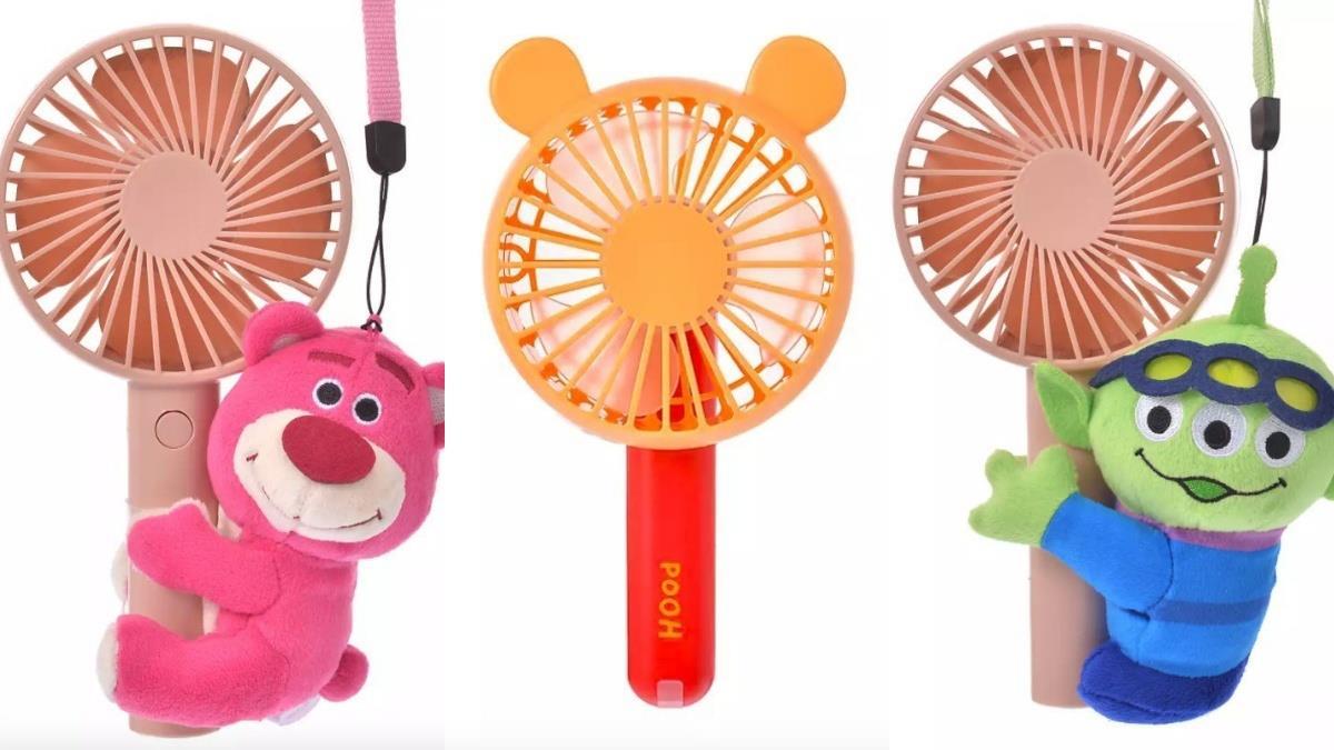 夏日散發口愛微風!迪士尼Q萌「超實用手持風扇」,經典角色全變無尾熊爬上風扇啦?!