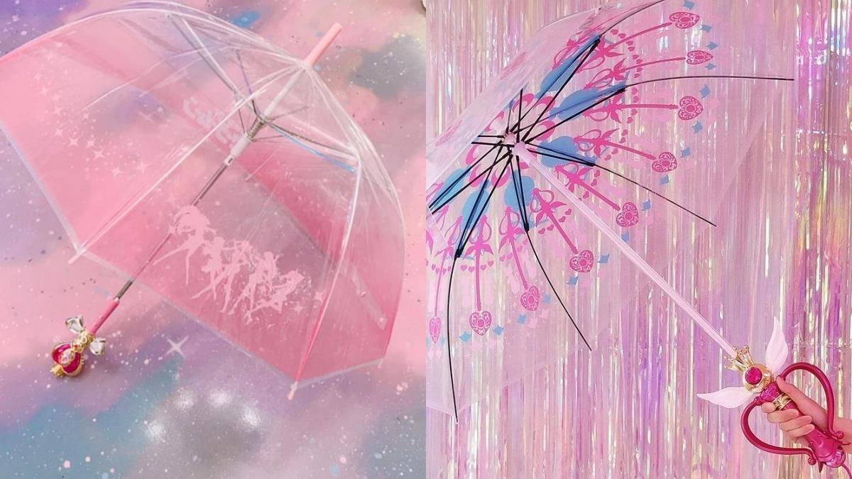 浮誇程度破表!韓國夢幻系《美少女戰士》雨傘,變身握把&LED炫光,在雨中秒變月光仙子~