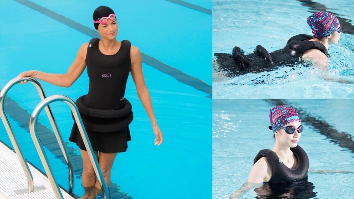我有泳圈,我驕傲!迪卡儂「漂浮式泳衣」功能&造型都突破想像,腰間2坨浮板拯救想游泳的願望~