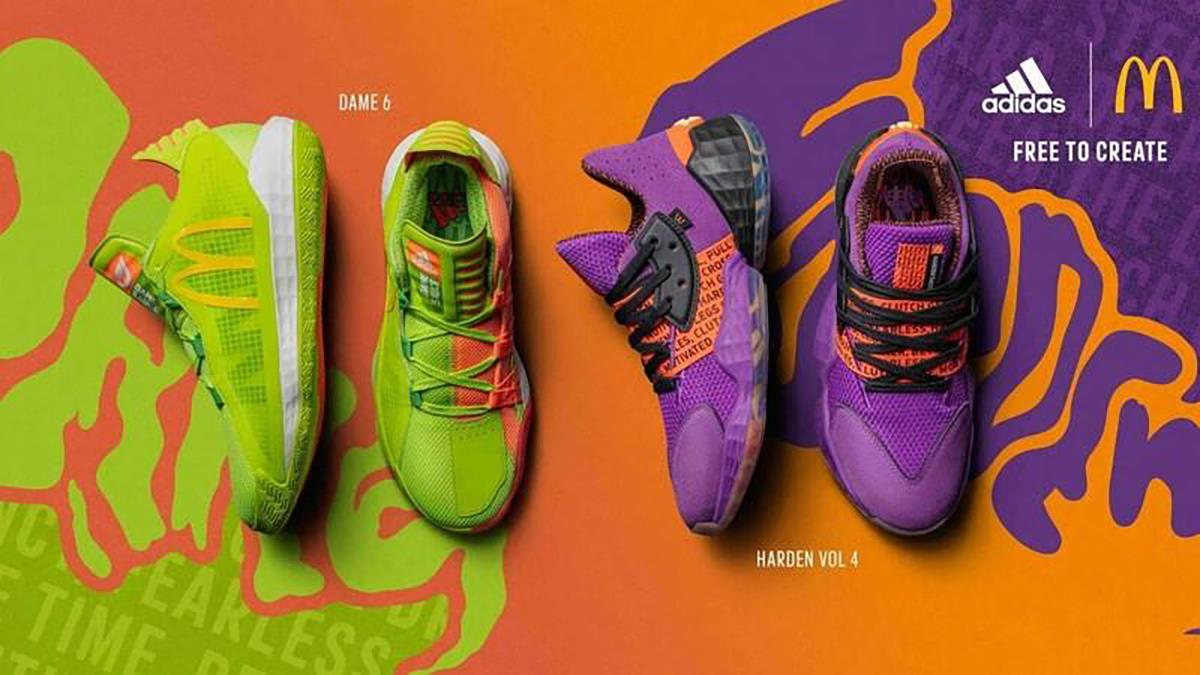 不只能吃還能「穿」!adidas與麥當勞跨界聯名推球鞋,糖醋醬、蒜味辣椒醬配色史上第一狂!