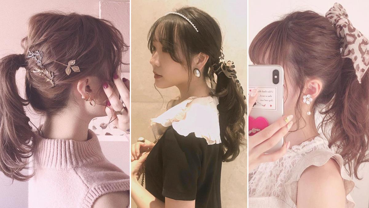 當季流行的6種髮型×4款髮飾,快速打造甜美可愛的日系編髮!
