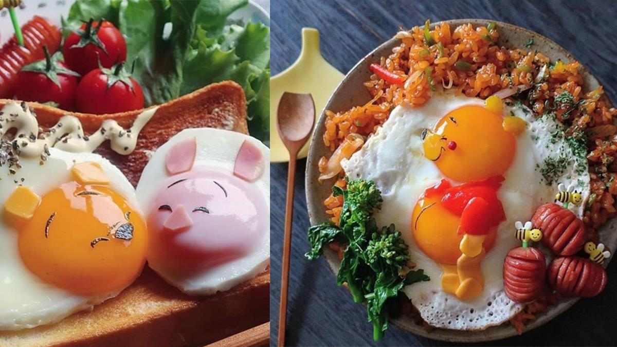 不用去迪士尼就能吃到!藝術品等級的爆可愛「卡通蛋料理」,小熊維尼、小丸子爺爺100%還原♡