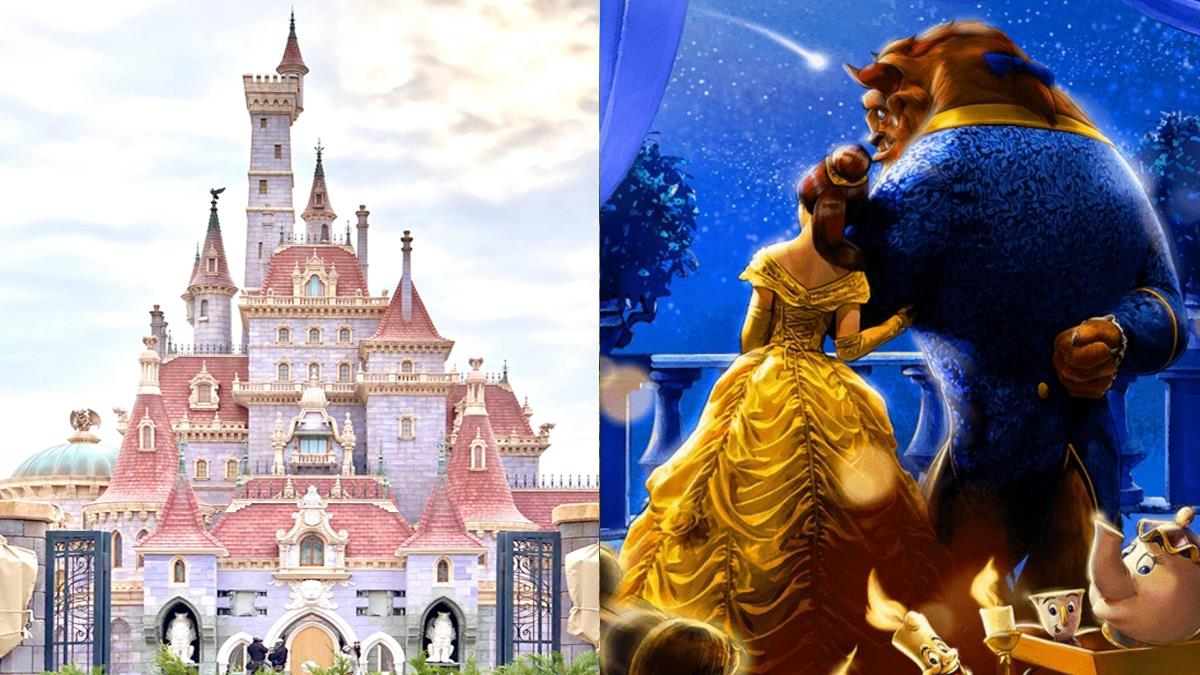 今夜想來點...野獸共舞!東京迪士尼《美女與野獸》新園區新照曝光,粉色城堡裡真的有住貝兒&野獸!