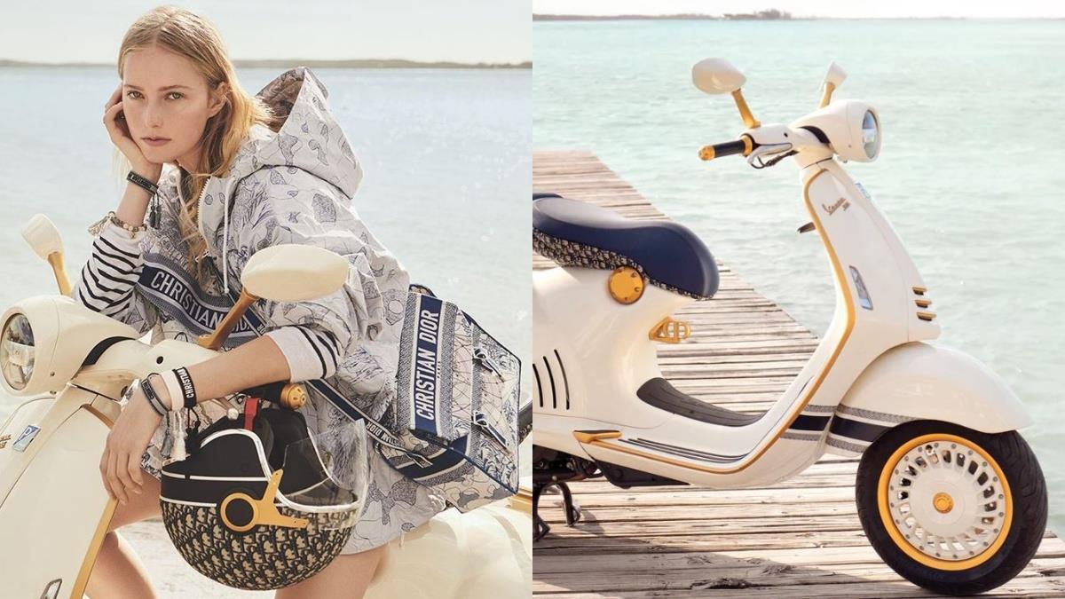 超級名「摩」上路啦!DiorX偉士牌聯手打造超時尚摩托車,配套行李箱&安全帽騎在路上彷彿時裝秀♥