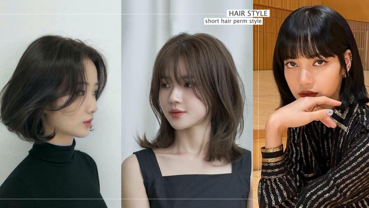 LISA「鎖骨短髮」超減齡!韓國4款「大勢短髮捲度」推薦,初戀系微捲短髮還有顯瘦遮肉的效果呢!