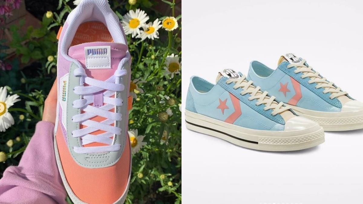 炎炎夏日讓腳ㄚ吃冰淇淋吧!精選4款繽紛可愛的「彩虹冰淇淋」球鞋,超夢幻色系融化女孩的心♥