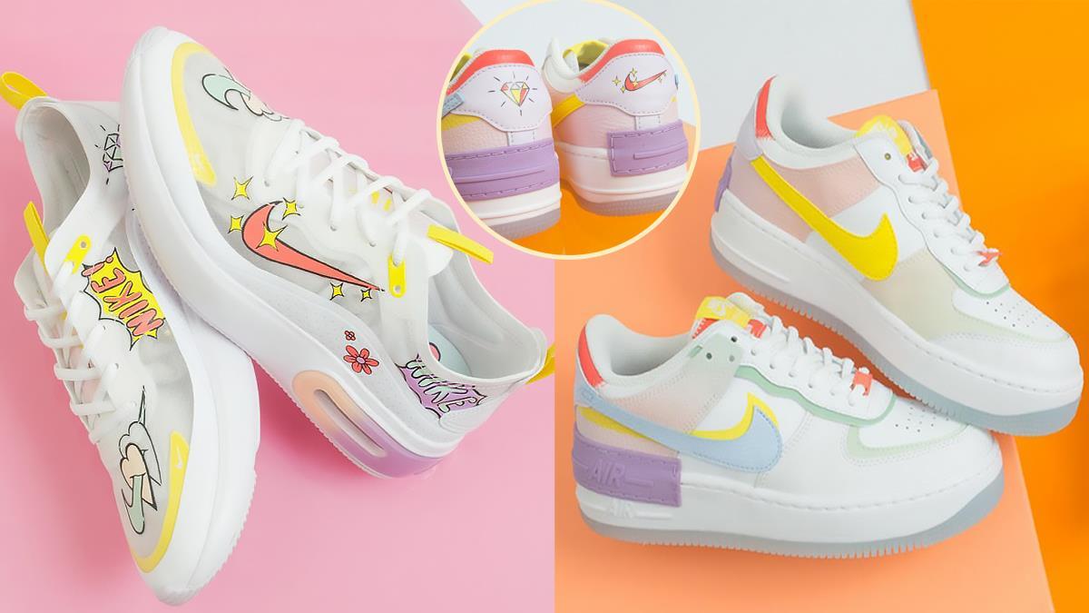 整雙鞋都是你的塗鴉牆!超夢幻NIKE「夏日糖果塗鴉」球鞋,手繪風的新潮設計一秒就愛上♥