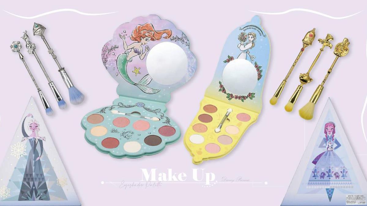 迪士尼+公主=太犯規!日本「迪士尼公主彩妝系列」登場,貝殼造型的小美人魚眼影盤太夢幻❤