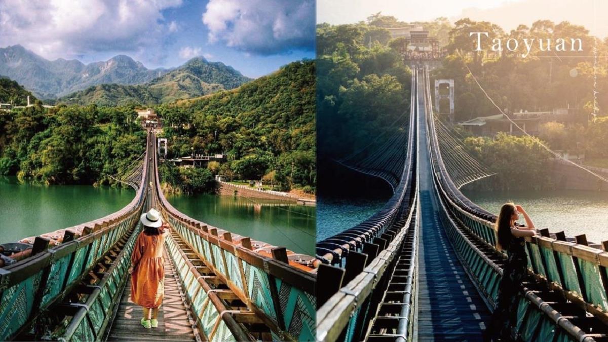 桃園「新溪口吊橋」重新開放!全台最長懸索橋、湖水綠圖騰設計怎麼拍都絕美,趁早去還能免費玩?!