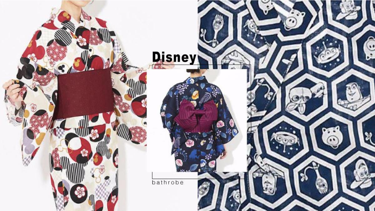 迪士尼控要發瘋了!超夢幻「迪士尼浴衣」華麗登場,米奇藏在細節裡、兒童款到底要多可愛~