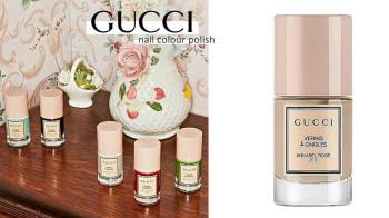 夢幻瓶身復古又可愛!GUCCI限定「寶寶粉指甲油」登場,奶茶裸、暗紅色超顯白、滿滿高級感!