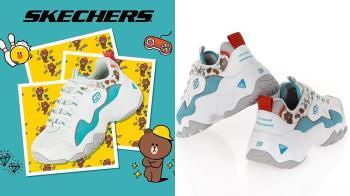 根本逼人奉上荷包君!Skechers和Line Friend聯名推出老爹鞋,好想穿上熊大、兔兔和莎莉去旅行~