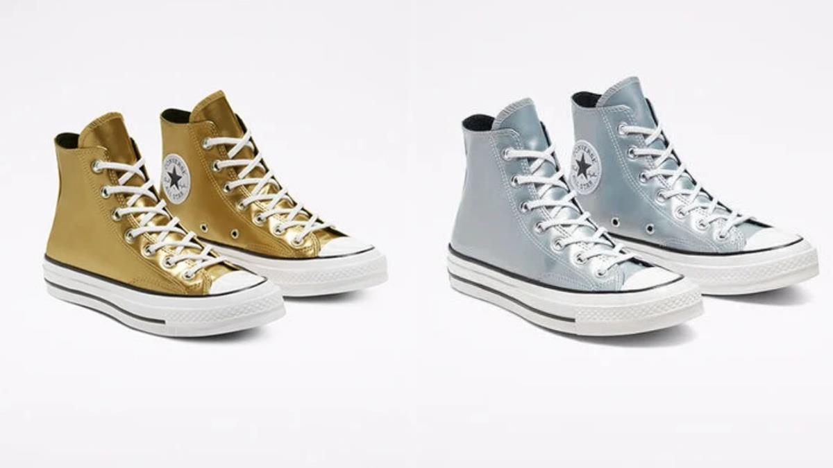 你掉的是金色還是銀色的鞋子?Converse新配色「湖中女神金屬光」,玫瑰金厚底款根本是搶荷包殺手!