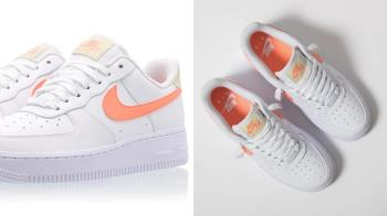 仙女必備小白鞋!Nike Air Force 1 超仙氣「蜜桃奶油鞋」,出門逛街的夥伴就決定是它了~
