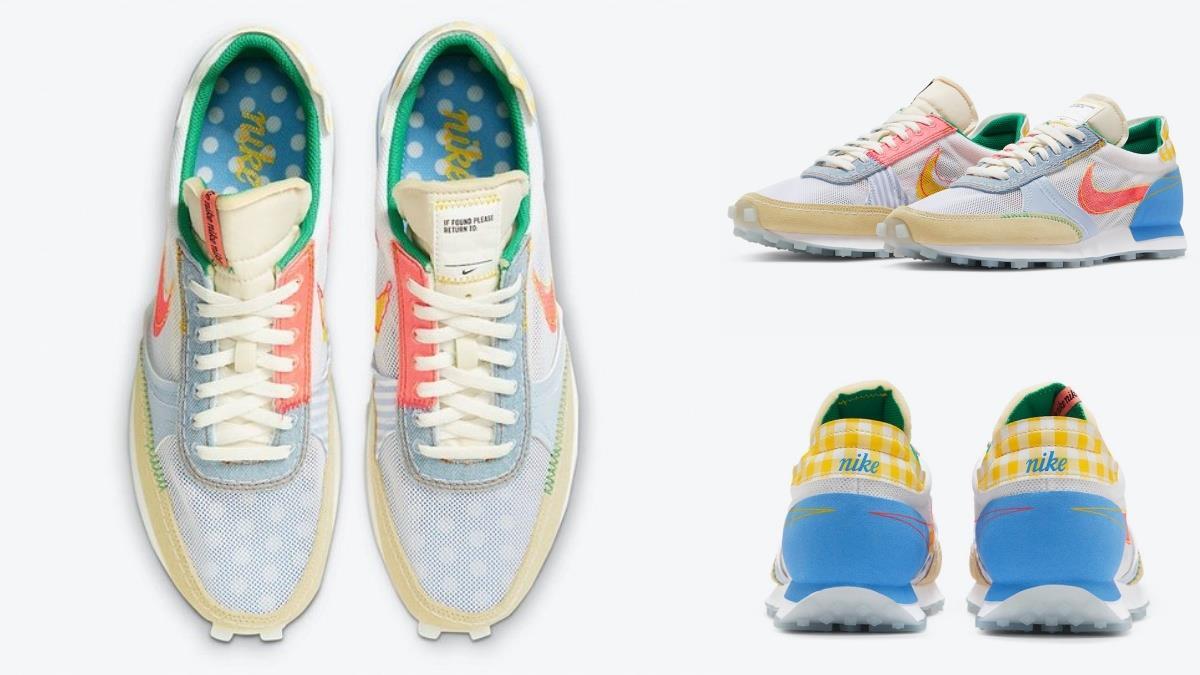 屬於夏天的顏色!Nike DayBreak甜美繽紛新配色攻破男女的心,異材質拼接、唯美大勾勾超吸睛~