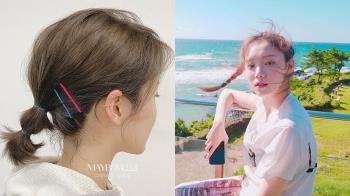 千萬不要小看鯊魚夾!5種短髮、中長髮「過渡期綁髮」教學,韓系包頭陪你度過髮型尷尬期!