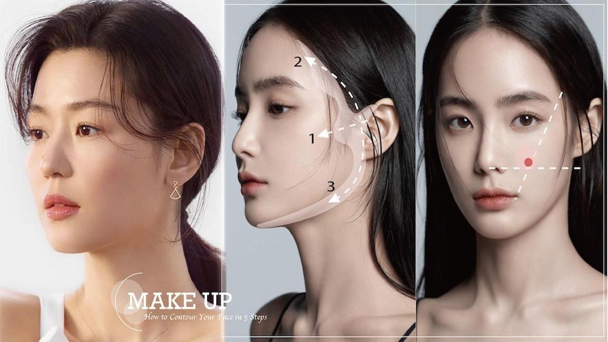 直接變身女團成員!韓星御用彩妝大師公開「修容5步驟」,各種臉型都適用畫對位置簡單變小臉!