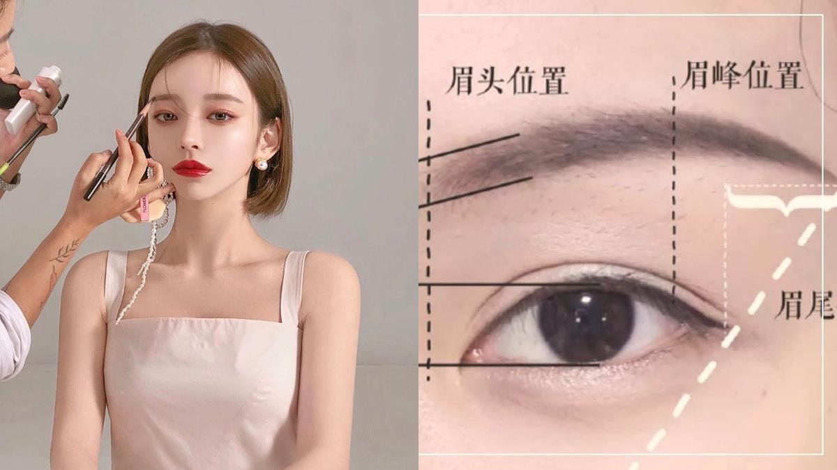 眉毛畫不對稱又生硬!彩妝師親授3大「不同臉型」眉型畫法,新手也能輕鬆畫出漸層眉型!