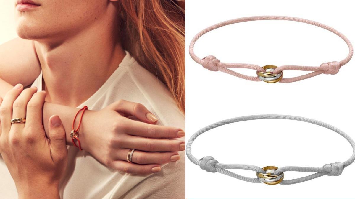 圈出最真摯的愛!卡地亞經典三環戒「絲繩手環」25新色,男女可戴、放眼全是愛情的顏色~