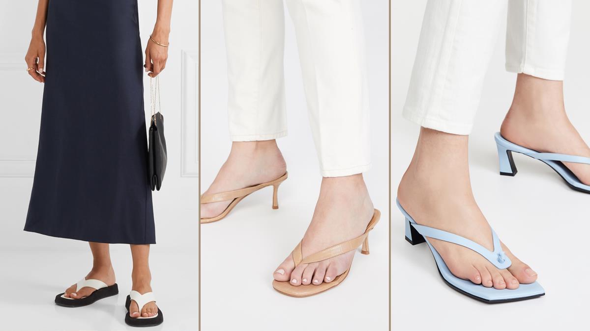 誰說夾腳拖不能時尚!精選2020爆紅「3款時尚百搭夾腳涼鞋」,氣質系皮革設計幫妳修長身材比例~