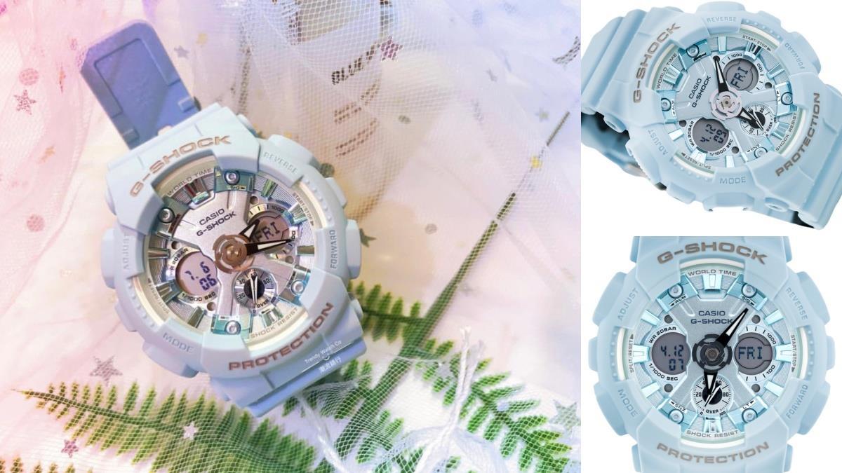 晶瑩雪花錶盤太迷人!G-SHOCK新款Elsa系「冰晶水藍色調」,氣質霧面、給夏季一抹沁涼~
