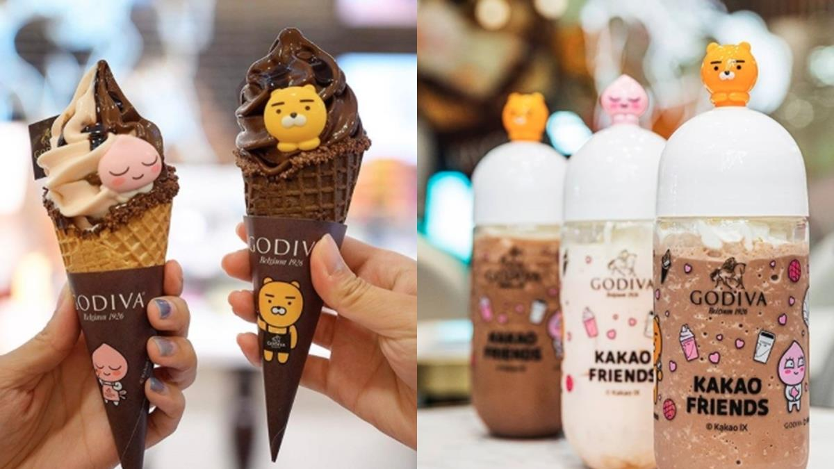 冰這麼可愛誰吃得下去!GODIVA x KAKAO FRIENDS聯名系列登場,還有萊恩冰沙杯超值得收藏~