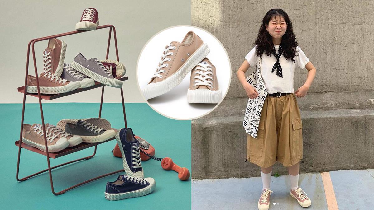 這顏色韓妞熱穿中!餅乾鞋秋冬可愛「柔沙粉」新色,台灣也能立刻到手!