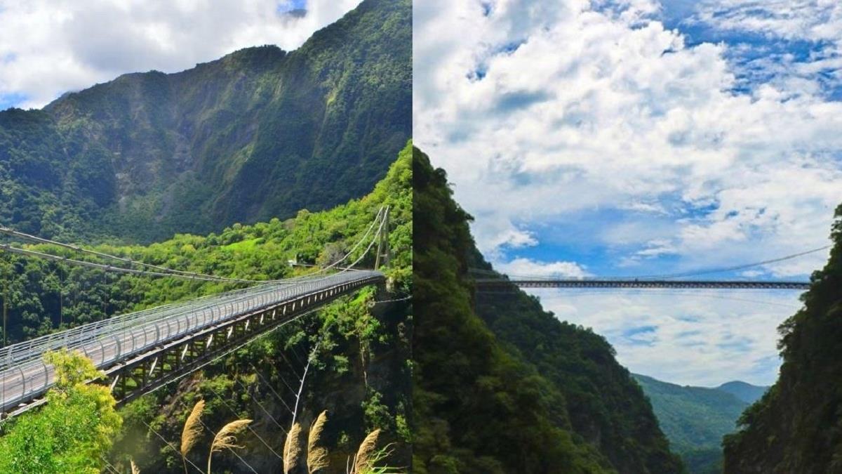 花蓮山月吊橋正式開放啦!人生至少要有一次「被太魯閣峽谷360度包圍」的經驗,限量預約、交通總整理