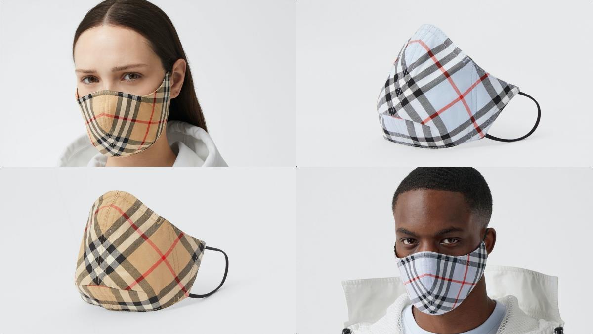 堪稱口罩界的奢華頂點!BURBERRY全新經典格紋「過濾細菌口罩」,防疫同時讓臉上有滿滿高級感~