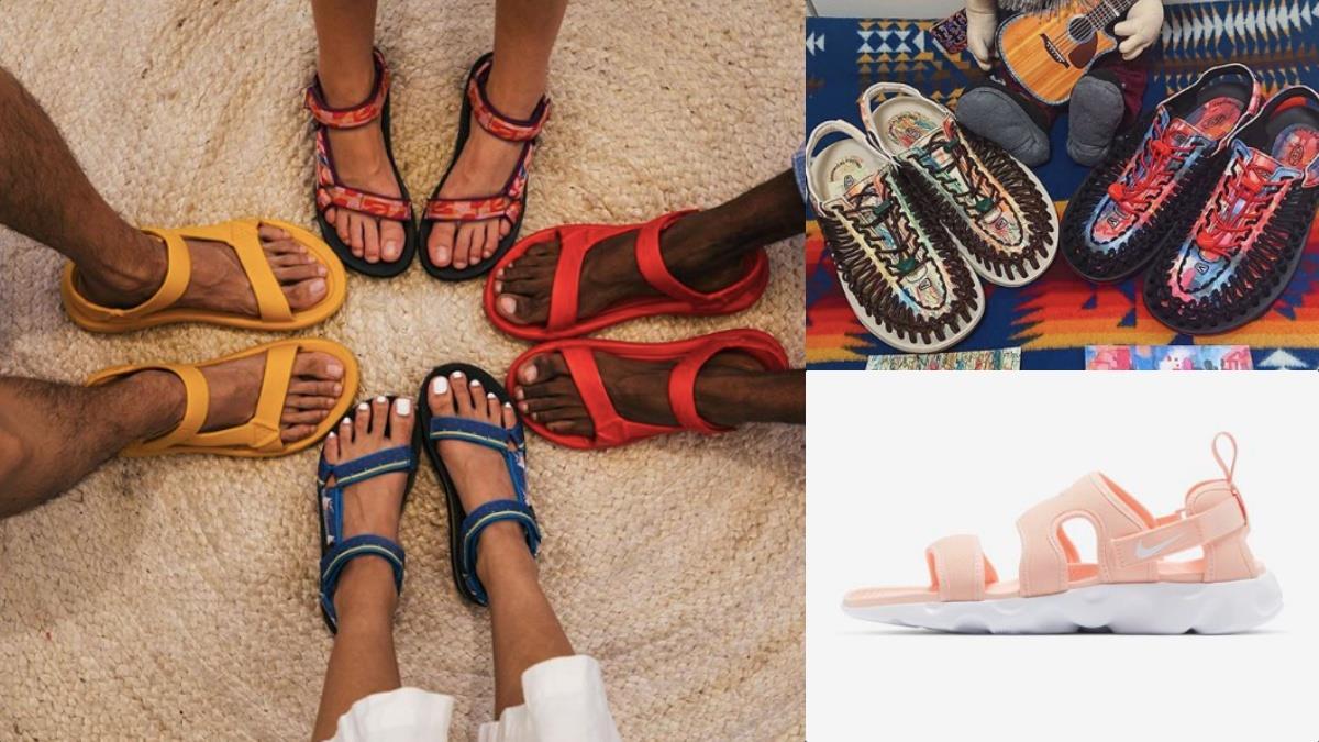 化身迷人森林系寶貝!精選2020夏日必備4款百搭運動涼鞋,夢幻珊瑚粉、編織設計搭出迷人戶外風~