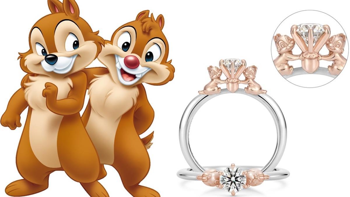 讓花栗鼠捧著花束見證愛情♡日本推出「奇奇&蒂蒂」求婚戒指,戒身裡竟還有隱藏版圖案