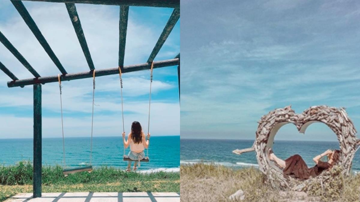 台東看海秘境再+1!「都蘭觀海平台」鞦韆+愛心裝置藝術超浪漫,還可欣賞一大片湛藍海景!