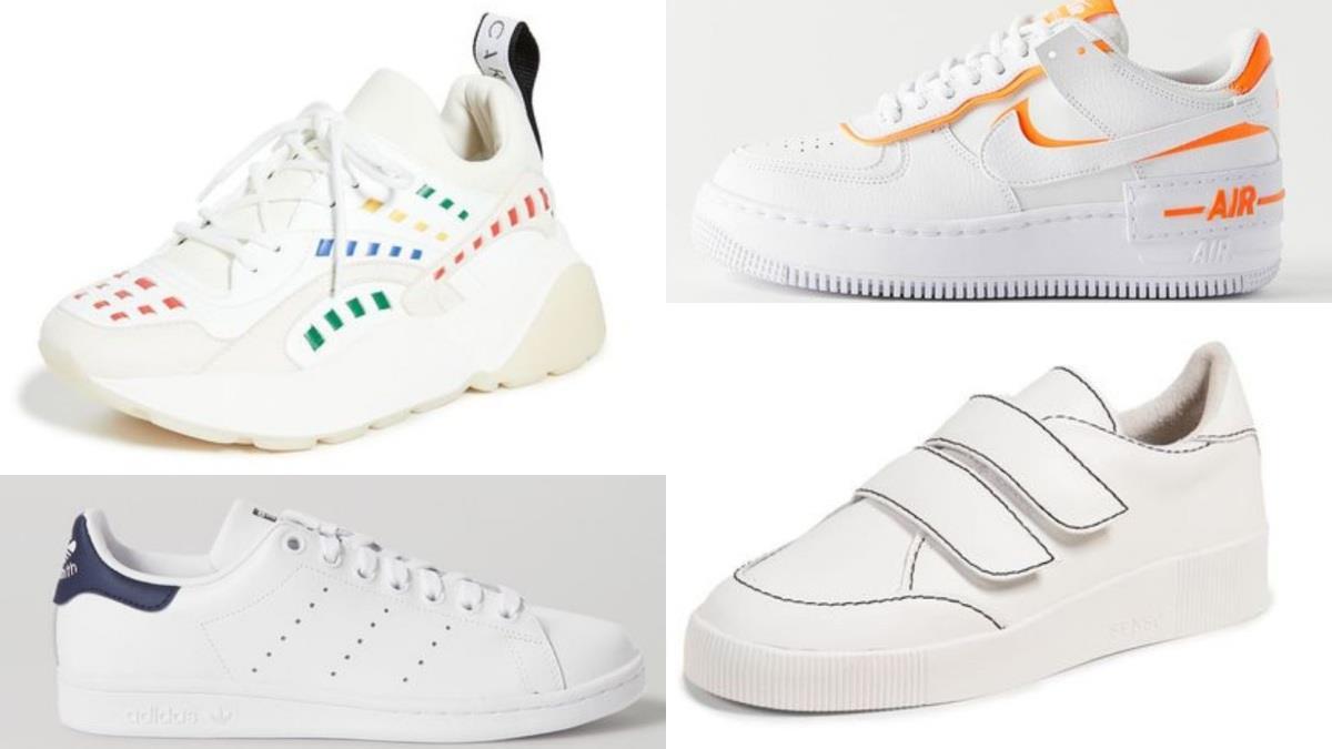 全白的鞋鞋太無聊惹!精選8款「色彩點綴系小白鞋」新品,多了一抹顏色讓穿搭更驚艷~
