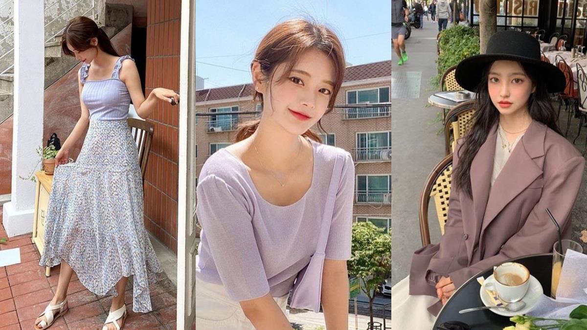 韓系流行就是要醬「紫」!早秋必備「浪漫紫色穿搭」推薦,薰衣草色不顯黃、配長裙甜度100%~