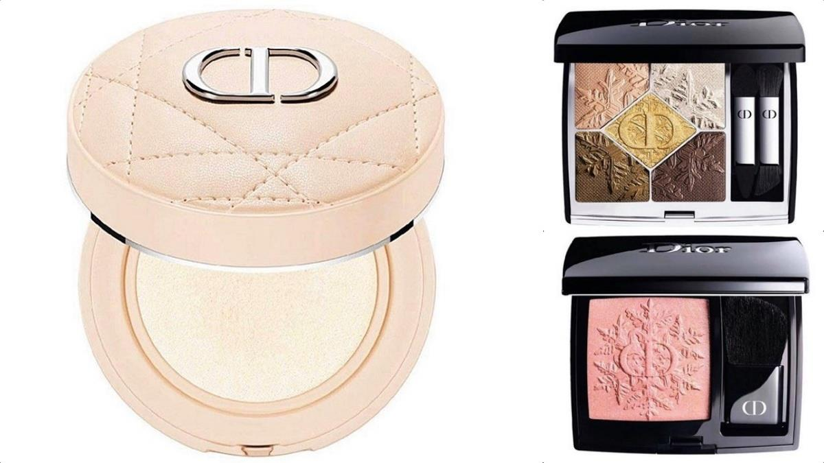 爆美「玫瑰奶茶氣墊」亮相!Dior秋冬《聖誕限定彩妝》絕美公開,眼影的精緻壓花根本藝術品~