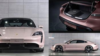 比芭比開的車還要時尚♥保時捷推出全新「冰晶莓粉」電動跑車,座位也是紫芋色直戳少女心!