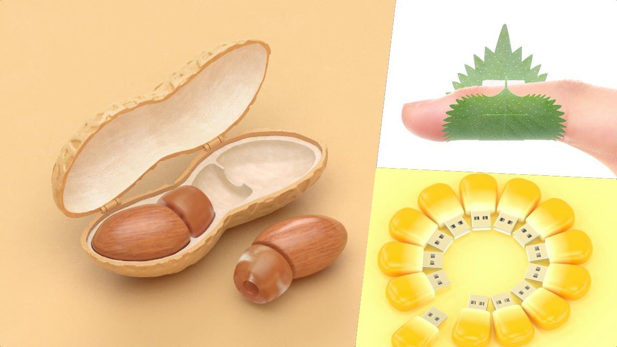 倫家的耳朵也會肚子餓啦!日本創意「花生耳機」剝殼超好玩,玉米粒、紫蘇葉差點猜不到是什麼啊~